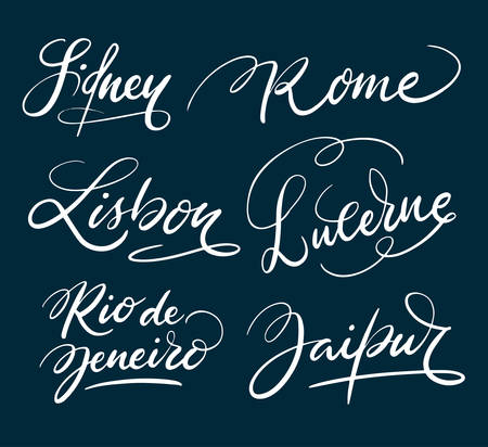 Sidney and rome hand written typography. Good use for logotype, symbol, cover label, product, brand, poster title or any graphic design you want. Easy to use or change color