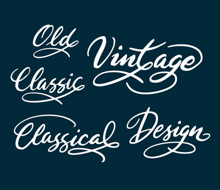 use by label: Vintage and classic hand written typography. Good use for logotype, symbol, cover label, product, brand, poster title or any graphic design you want. Easy to use or change color