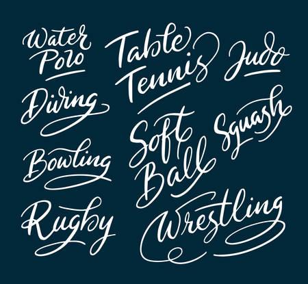 regular: Sport and wrestling hand written typography. Easy to use or change color vector illustration. Illustration