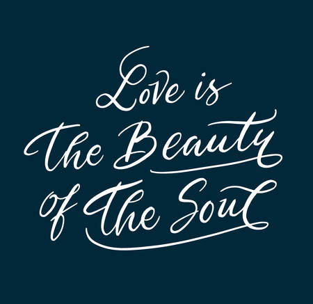 spontaneously: Love is the beauty hand written typography. Good use for logotype, symbol, cover label, product, brand, poster title or any graphic design you want. Easy to use or change color