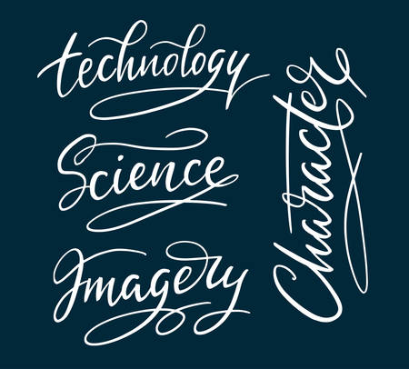 use by label: Technology and science hand written typography. Good use for logotype, symbol, cover label, product, brand, poster title or any graphic design you want. Easy to use or change color