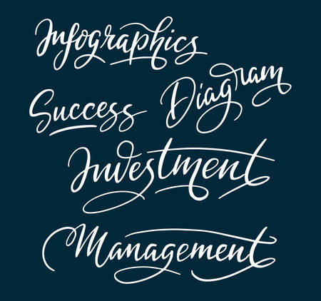 spontaneously: Success and management hand written typography. Good use for logotype, symbol, cover label, product, brand, poster title or any graphic design you want. Easy to use or change color