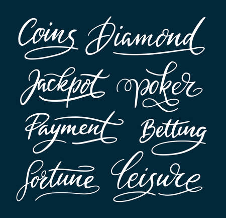 spontaneously: Coins and fortune hand written typography. Easy to use or change color, vector illustration. Illustration