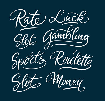 Rate and slot hand written typography. Easy to use or change color, vector illustration. Illustration