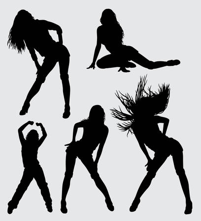 sexy model silhouette, good use for symbol, logo, web icon, mascot, sticker or any design you want.