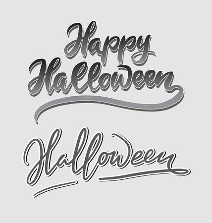 Halloween trick or treat handwriting calligraphy. Good to use for symbol, cover label, product, brand, poster title or any graphic design you want. Easy to use or to change color Illusztráció