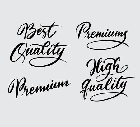 La mejor calidad y la mejor tipografía de escritura a mano. Foto de archivo - 90503715