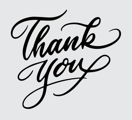 Thank you handwriting typography Stock Illustratie