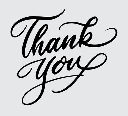 Thank you handwriting typography Illustration