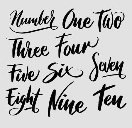 number handwriting typography. Good use for logotype, symbol, cover label, product, brand, poster title or any graphic design you want. Easy to use or change color 일러스트