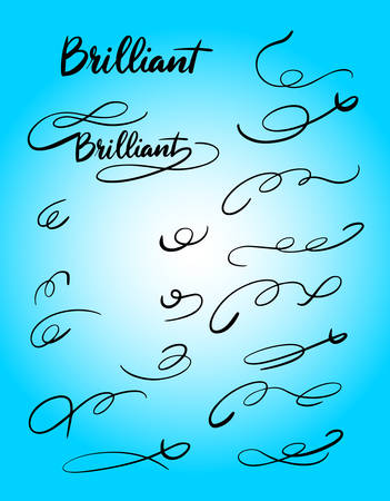 Brillante cola tipografia de escritura a mano. Foto de archivo - 90498222
