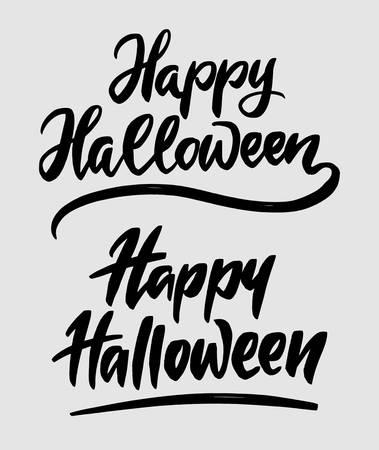 Feliz dia das bruxas tipografia de caligrafia. Foto de archivo - 90518476