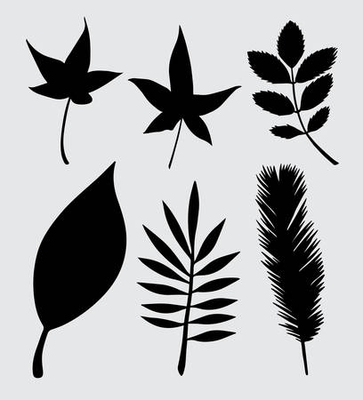 Leaf nature silhouette good use for symbol, logo, web icon, mascot, sign, sticker, or any design you want Illustration