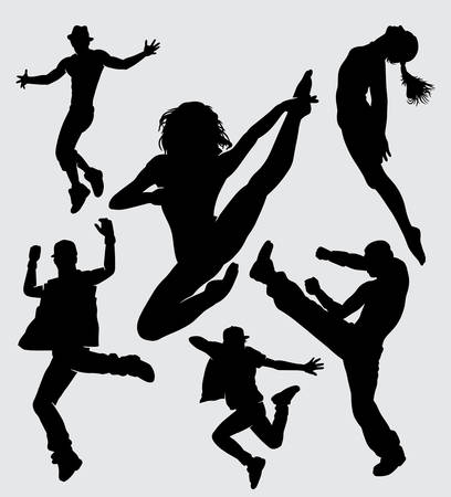 Dance male and female gesture silhouette good use for symbol, logo, web icon, mascot, sign, sticker, or any design you want