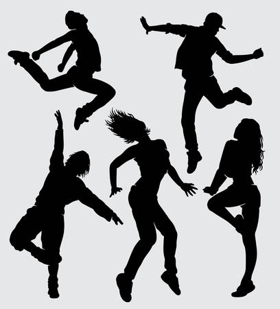 Modern dance silhouette good use for symbol, logo, web icon, mascot, sign, sticker, or any design you want Illustration