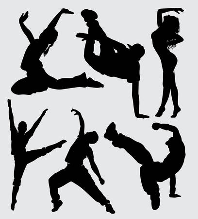 Break dance sport silhouette good use for symbol, logo, web icon, mascot, sign, sticker, or any design you want