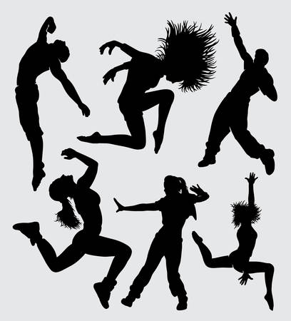 Dance stretching aerobic sport silhouette good use for symbol, logo, web icon, mascot, sign, sticker, or any design you want Illustration