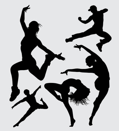 modern dance silhouette Good use for symbol, web icon, mascot, sign, sticker, or any design you want Illustration