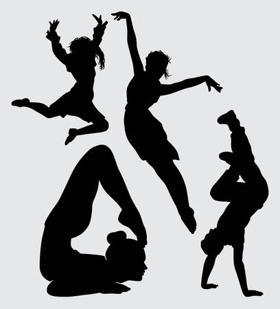 Yoga acrobat and dance silhouette Good use for symbol, web icon, mascot, sign, sticker, or any design you want
