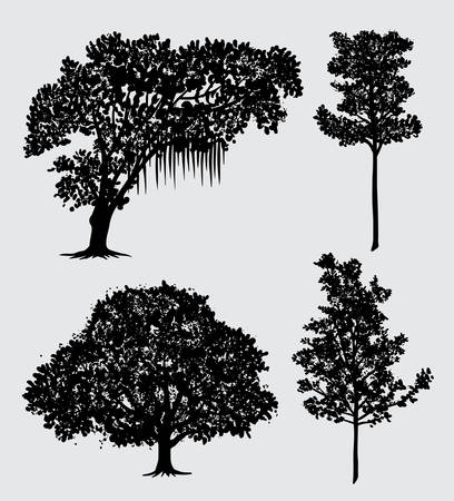 tree nature silhouette Good use for symbol, web icon, mascot, sign, and other.