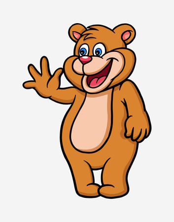 Vaarwel dierlijk stripfiguur goed gebruik voor symbool, logo, webpictogram, mascotte, teken, sticker of elk gewenst ontwerp. Stock Illustratie