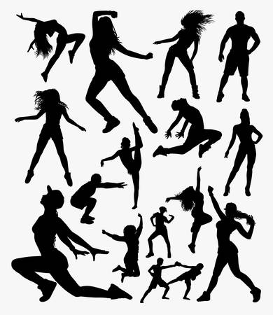 Gym sport silhouette. Good use for symbol, logo, web icon, mascot, sticker, or any design you want.