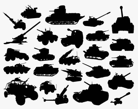 Tank transportation silhouette. Good use for symbol, logo, web icon, mascot, sticker, or any design you want.