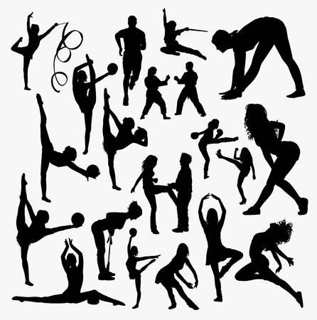 Sport training silhouette. Good use for symbol, logo, web icon, mascot, sign, sticker, or any design you want.