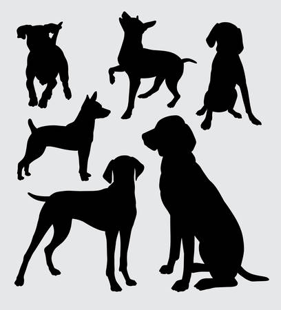 Dog pet animal action. Good use for symbol, logo, web icon, mascot, sign, or any design you want