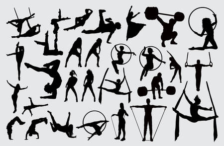 Sport activity silhouette. good use for symbol, logo, web icon, mascot, sign, or any design you want. 写真素材 - 122419783