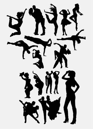 Dancing silhouette Vektorové ilustrace