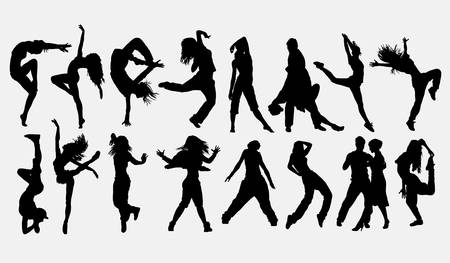 Dancer male and female silhouette Stock Vector - 122420201