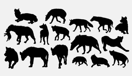 Hyena wild animal silhouette