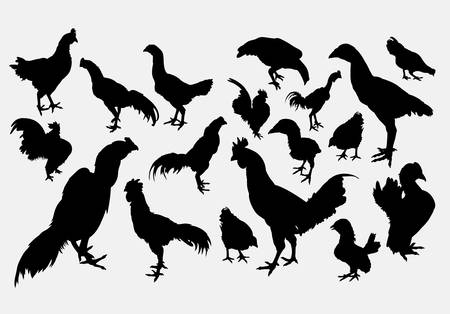 rooster poultry animal silhouette
