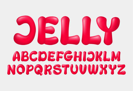 Jelly vector alphabet