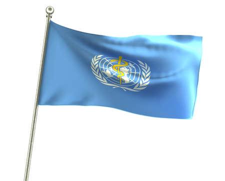 Flagge der WHO (Weltgesundheitsorganisation)