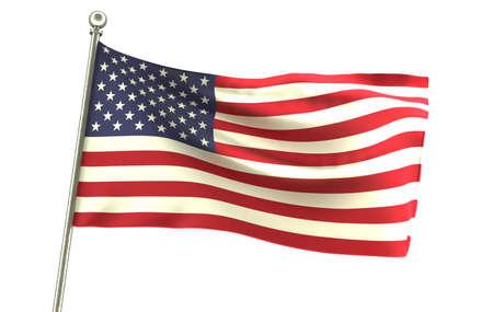 Wavy USA United States Flag