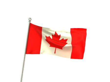 Wavy Canada Flag Reklamní fotografie