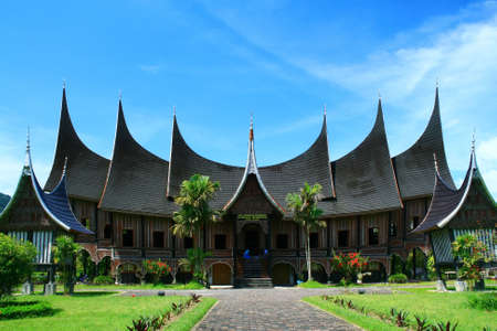 traditional house: Minang traditional house  Stock Photo