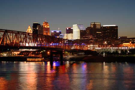 Cincinnati Skyline From Newport, taken in the evening photo