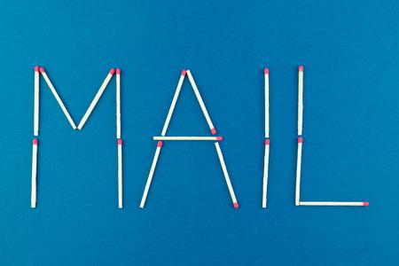 matchstick: Written mail made with matchstick