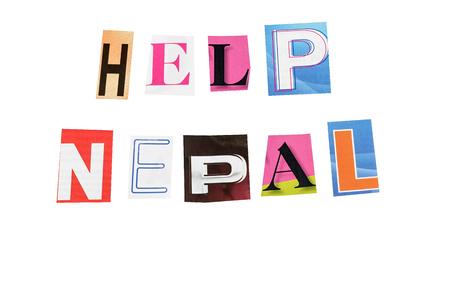 Help nepal written letters daily photo