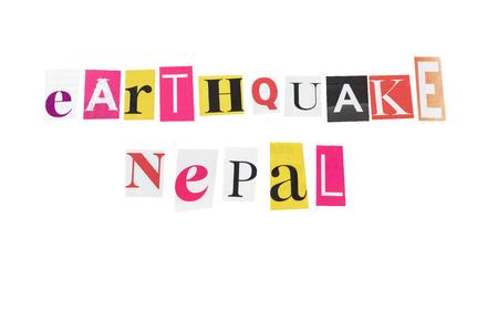 sismográfo: Nepal Terremoto cartas escritas diarias Foto de archivo