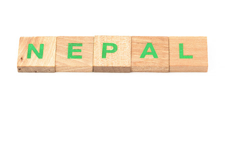 Nepal written with letters photo