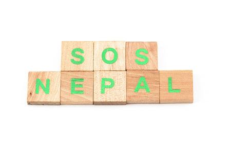 sismogr�fo: Sos nepal escrito con letras