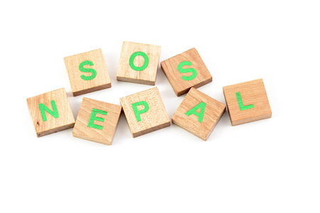 Sos nepal written with letters photo