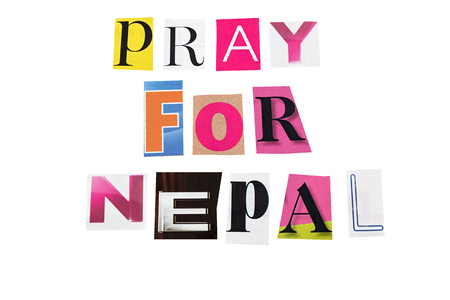 sismográfo: Oremos por las letras nepal escrita diaria Foto de archivo