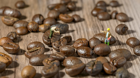 thumbnail: Thumbnail workers on coffee beans