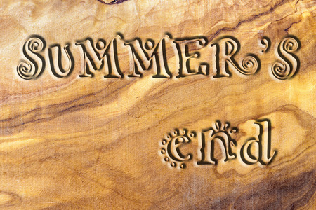 summers: summers end carved on olive wood