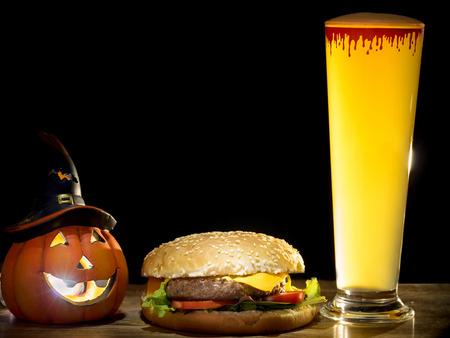 Halloween Bier.Halloween Kurbis Und Halloween Bier Mit Halloween Party